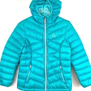 Gerry Turquoise Down Puffer Jacket. Size 14/16